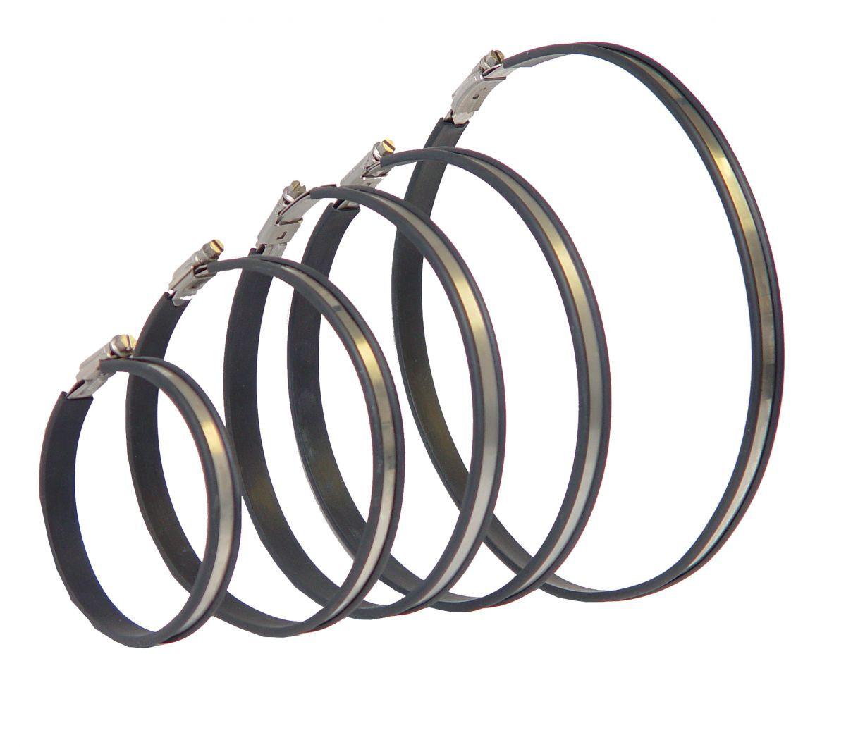 hose clip set 2 clips 2 rubber strips