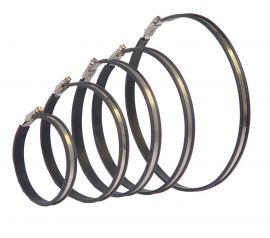 Hose clip set (2 clips + 2 rubber strips)